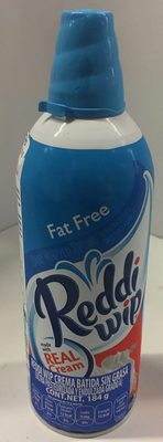 Reddi-wip Fat Free Whipped Dairy Cream Topping, 6.5 oz., 6.5 OZ - Producto - es