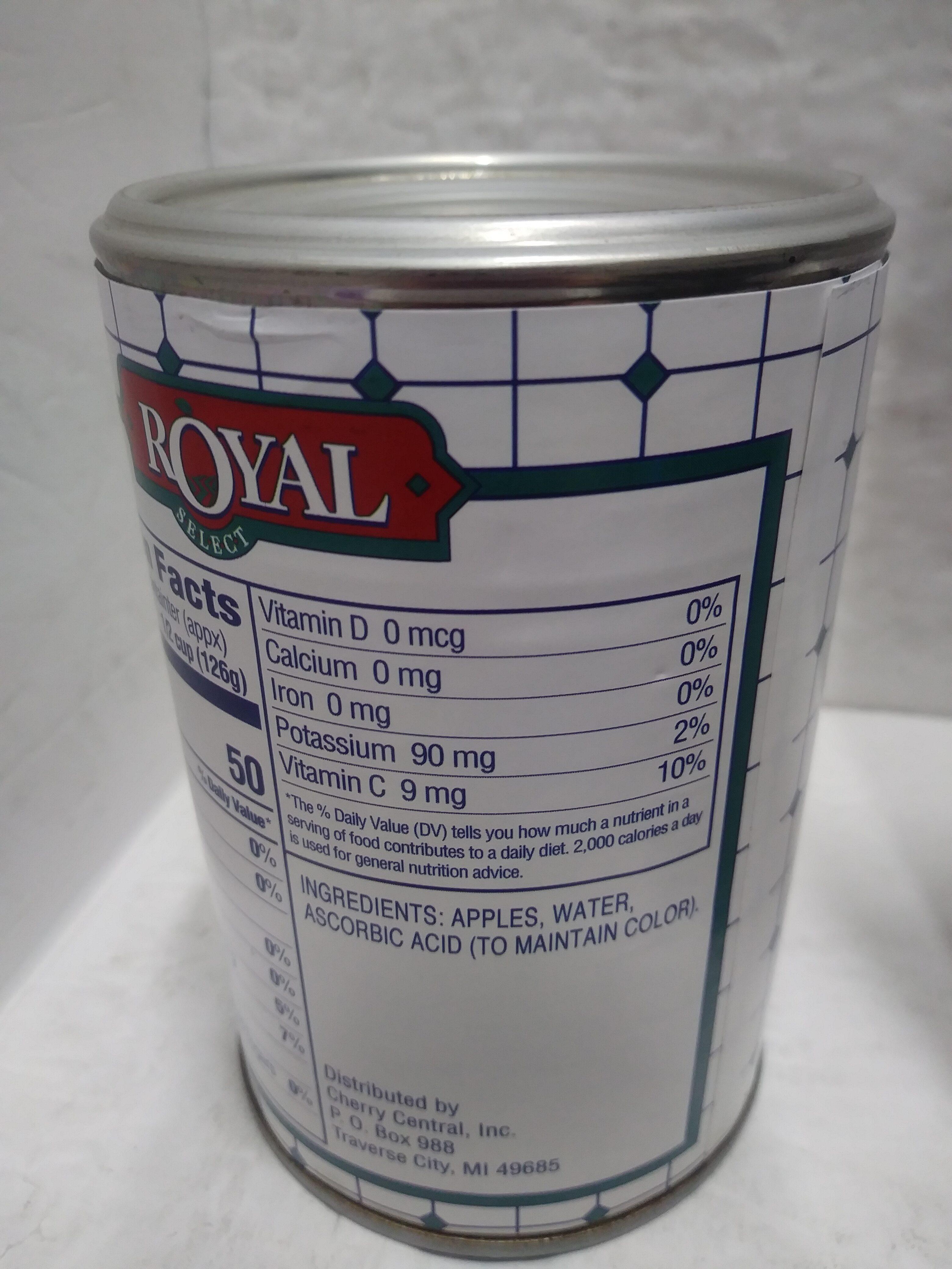 Unsweetened Applesauce - Ingredienti - en