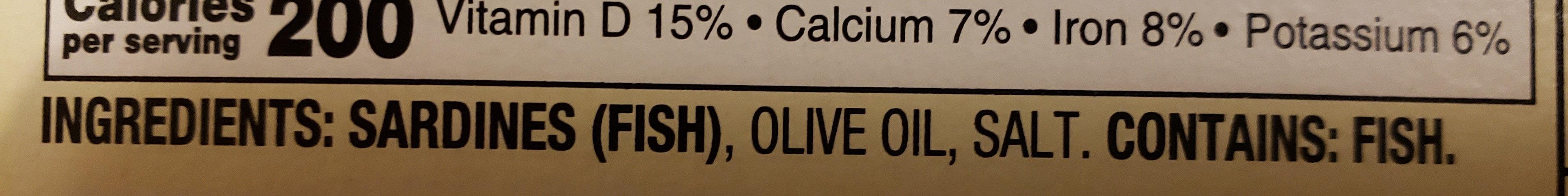 Sardines in olive oil - Ingredients - en