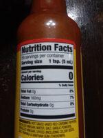 old bay hot sauce - Nutrition facts - en