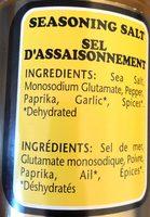 Fine foods seasoning salt - Ingrédients - fr