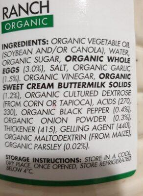 Johnny's Organic Ranch - Ingredients - en