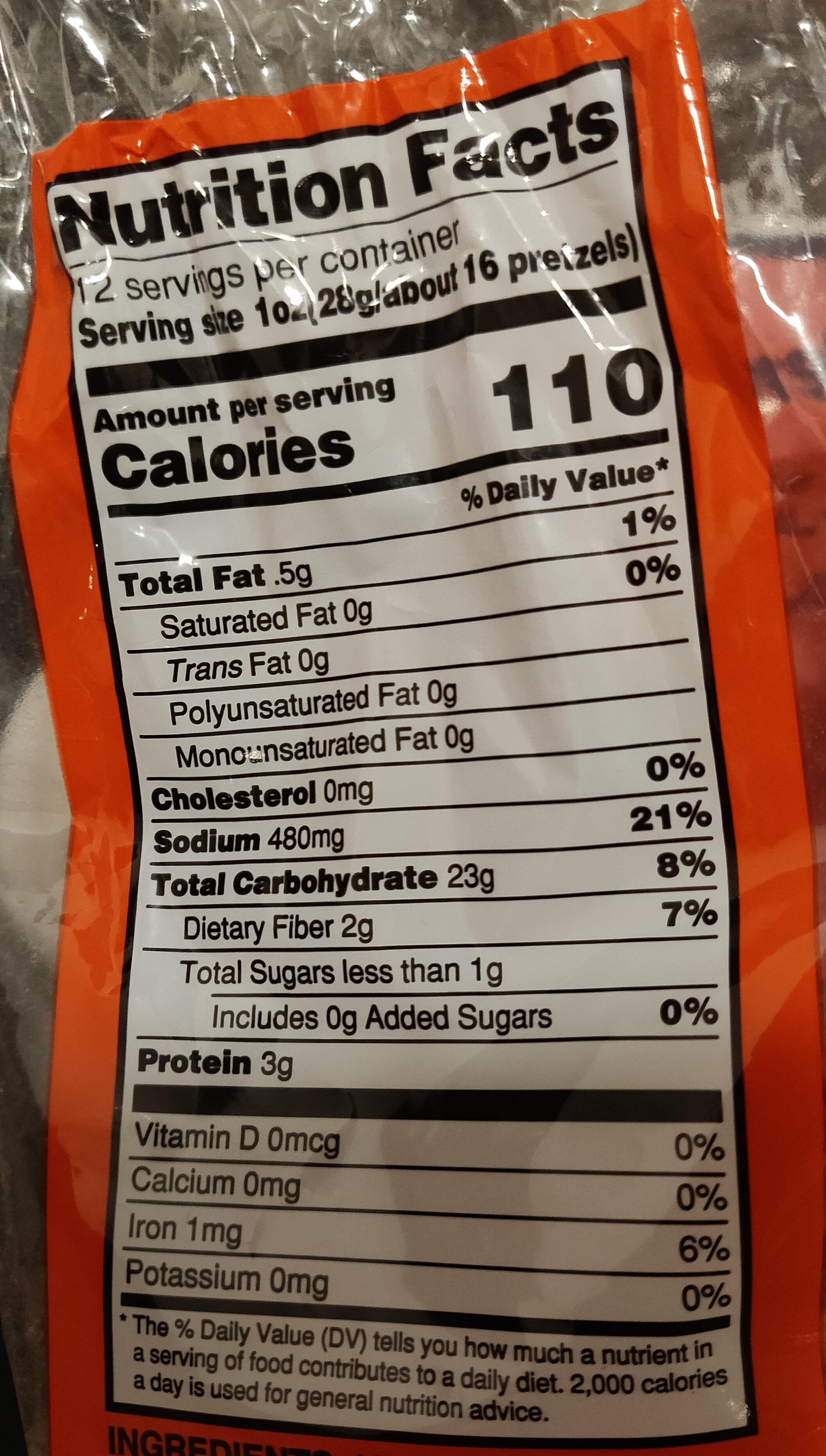 Pennysticks Brand Mini Pretzels - Voedingswaarden - en