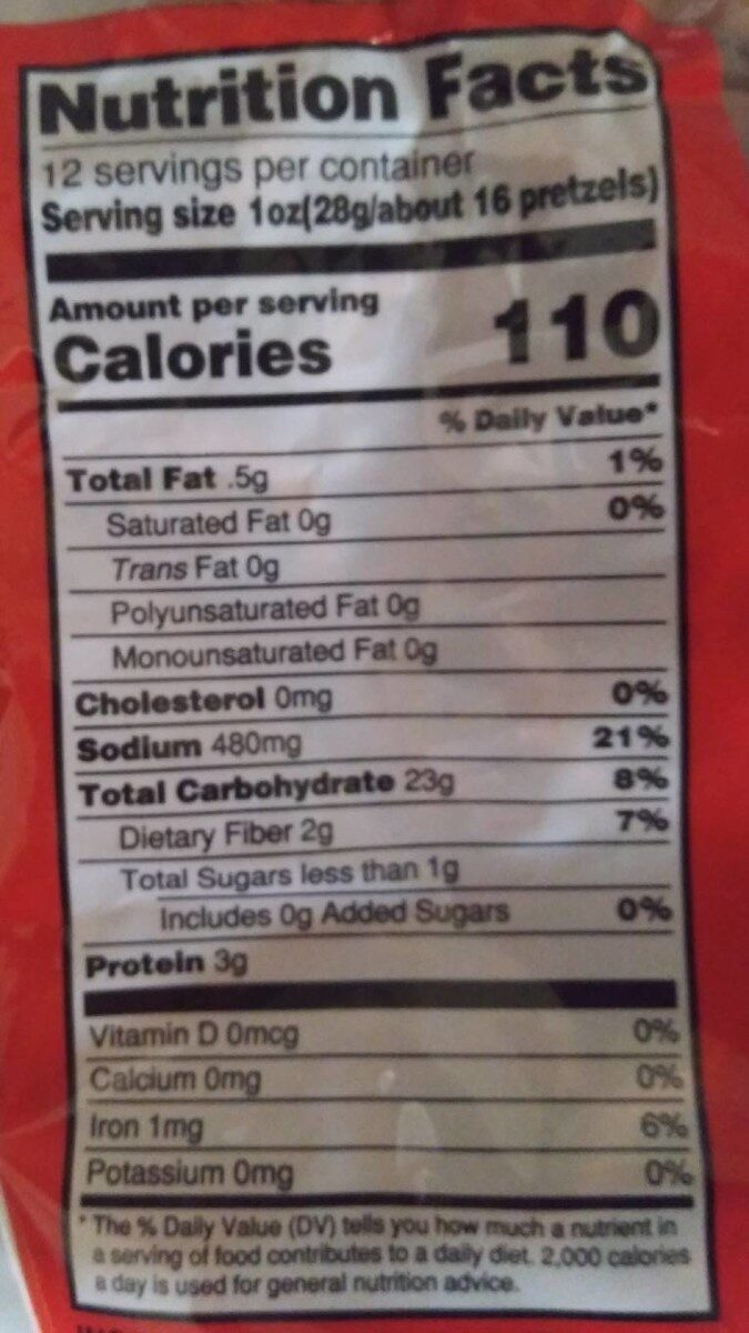 Mini pretzels - Nutrition facts - en