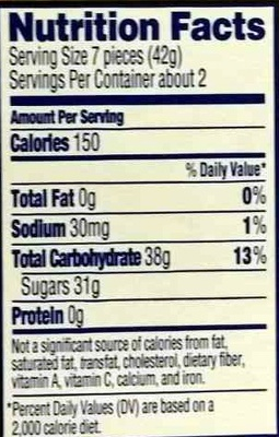 Swedish fish 3 1 oz 88 g for Fish oil nutrition facts