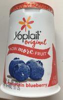 Yoplait Original Mountain Blueberry Low Fat Yogurt - Produit - fr