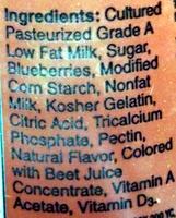 Original Mountain Blueberry - Ingredients