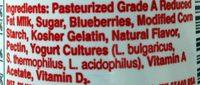 Yoplait Original Mountain Blueberry Low Fat Yogurt - Ingrédients - fr