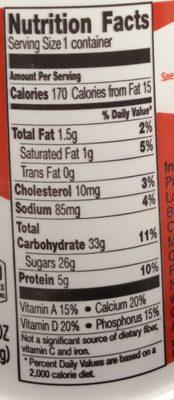 Yoplait Original Mountain Blueberry Low Fat Yogurt - Informations nutritionnelles - fr