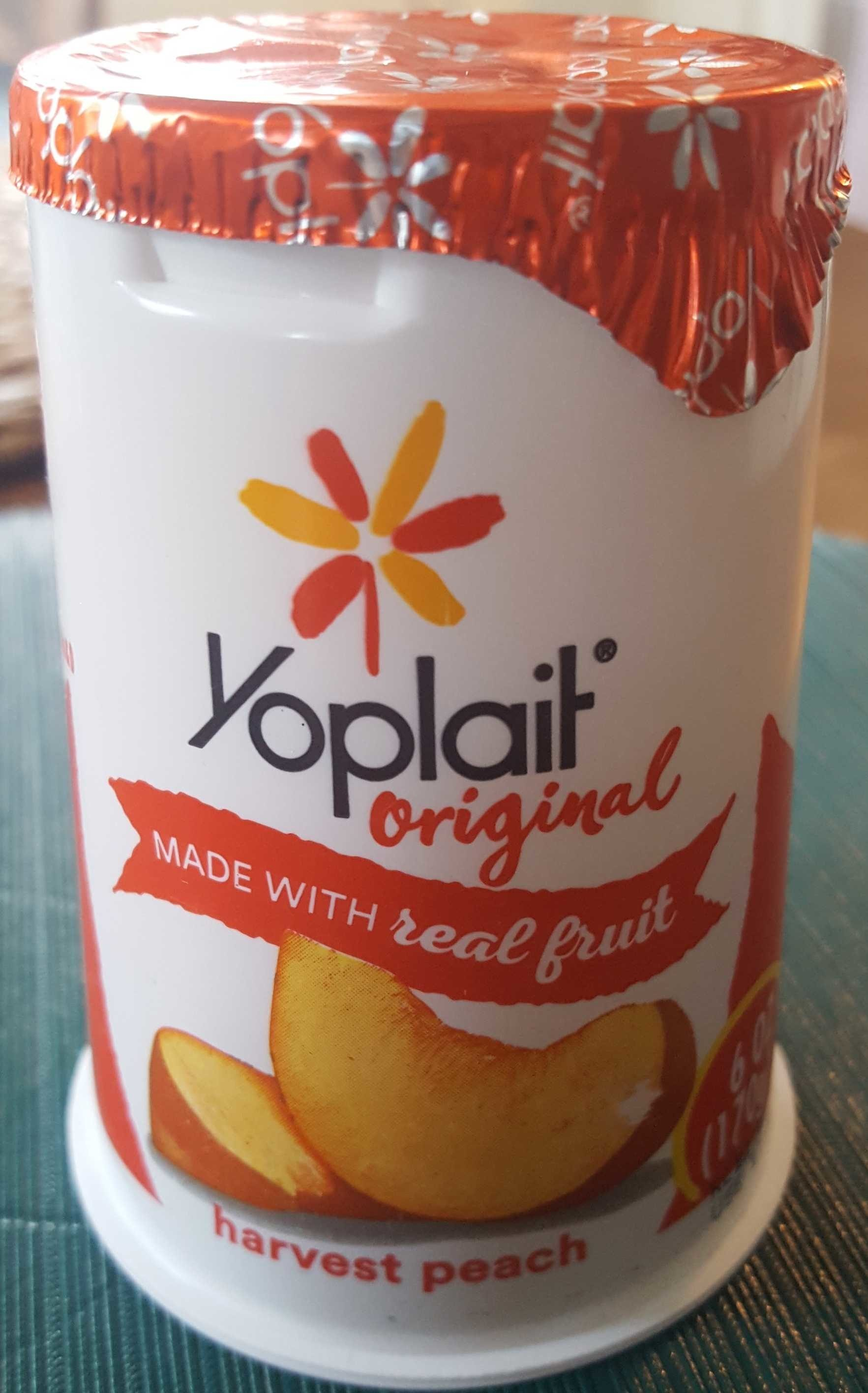 Yoplait Original Low Fat Yogurt Harvest Peach - Product