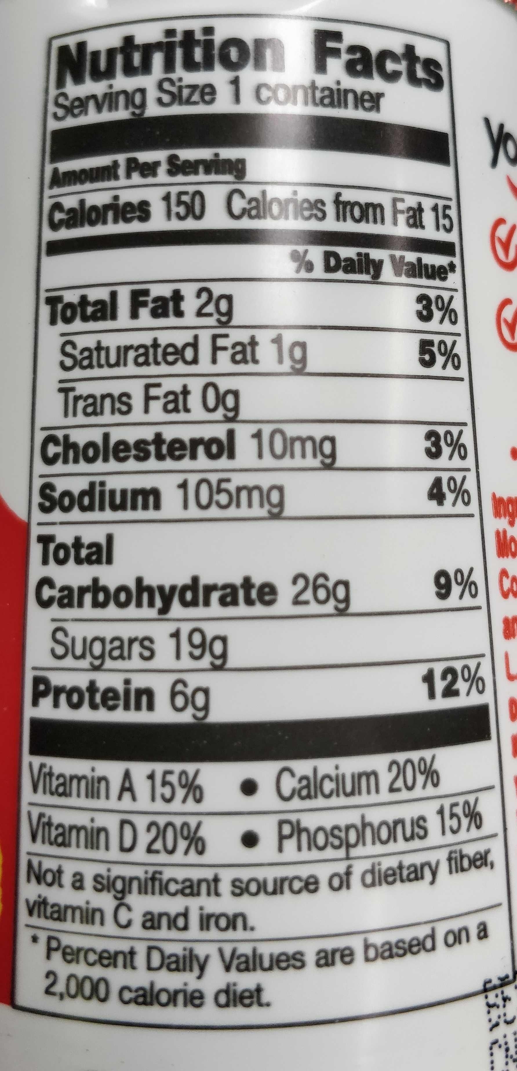 Key Lime Pie Yogurt - Nutrition facts