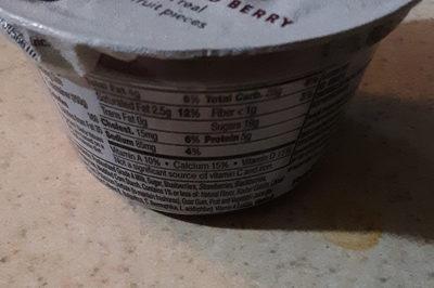 Fruitside yogurt, mixed berry - Ingredients