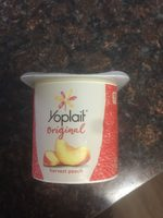 Yoplait Original Harvest Peach Low Fat Yogurt - Product - en