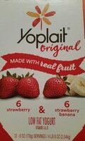 Strawberry & strawberry banana yogurt - Product