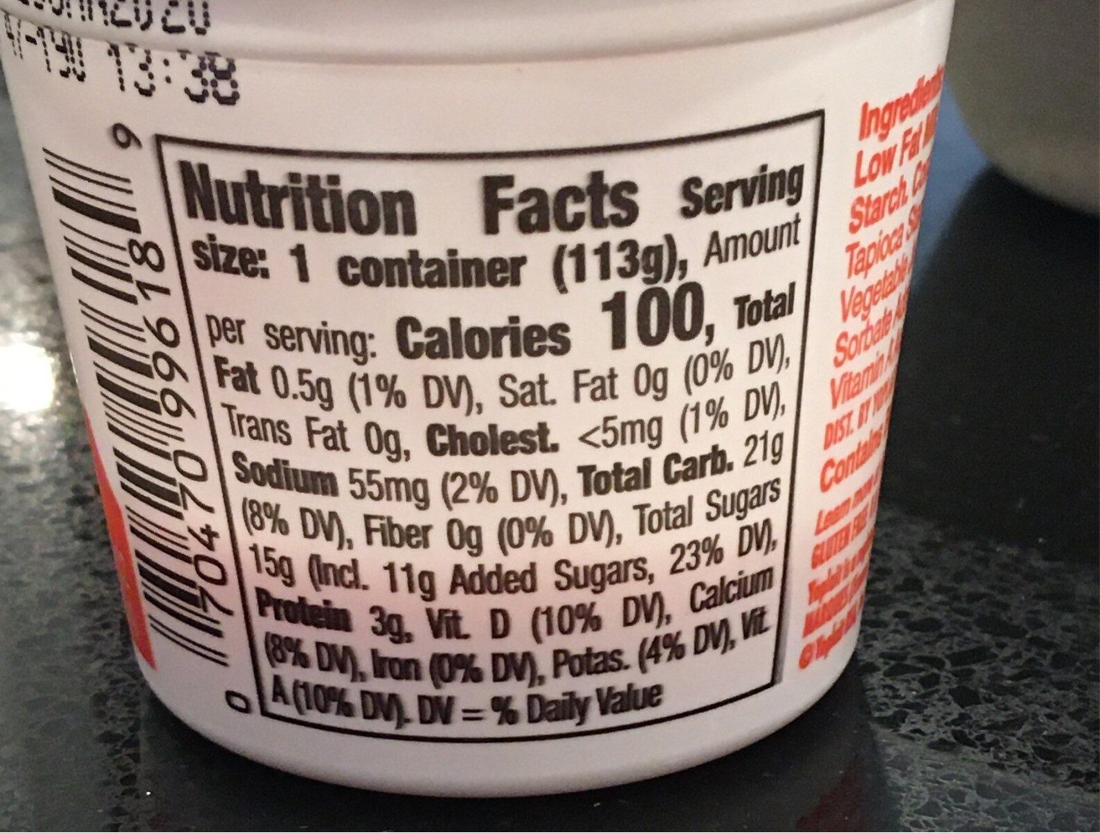Yoplait smooth style - Nutrition facts