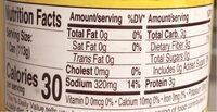 Whole sliced mushrooms - Nutrition facts - en