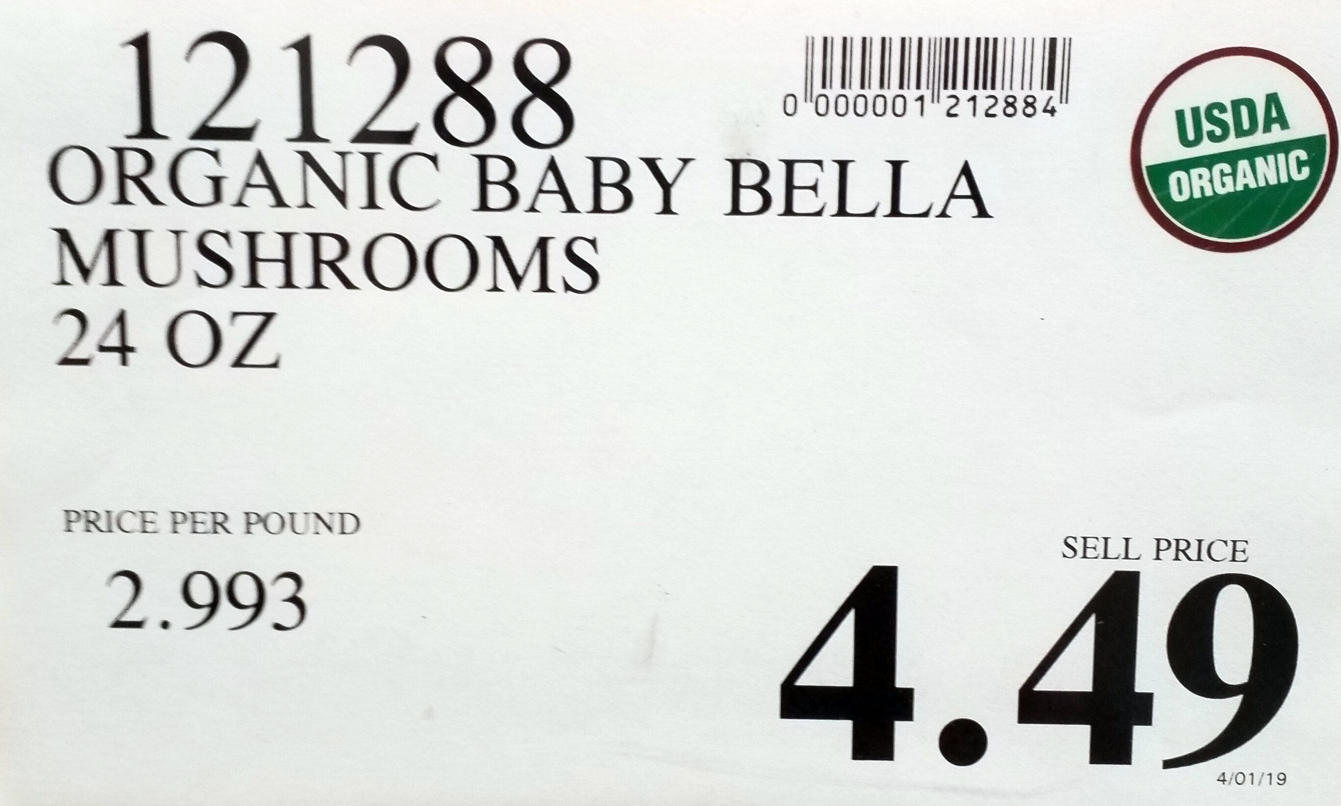 Organic Baby Bella Mushrooms - Ingredients