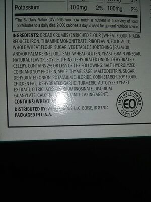 winco foods savory herb stuffing mix - Ingredients - en