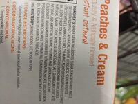 peaches and cream oarmeal - Ingredients - en