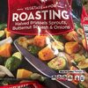 Roasting halved brussels sprouts, butternut squash & onions - Product