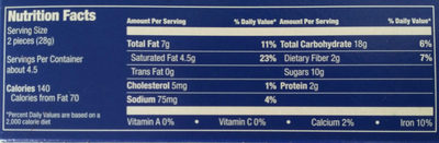 Choco Leibniz Dark Fine European Biscuits - Nutrition facts