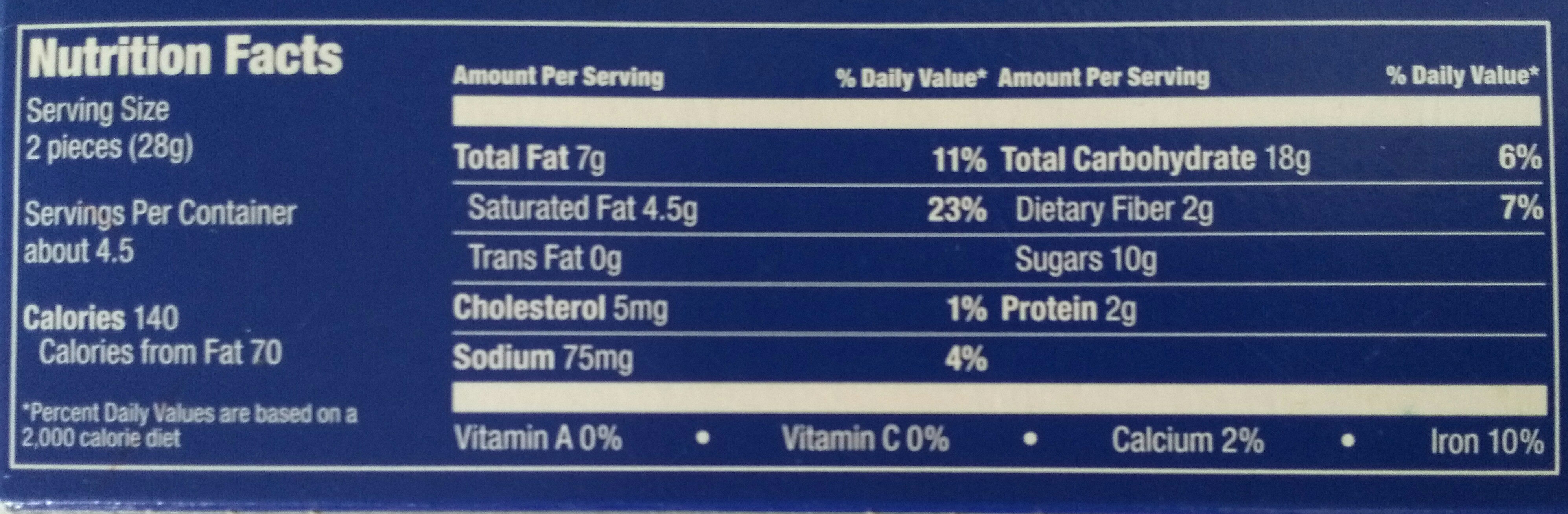 Dark crispy cookies - Nutrition facts - en
