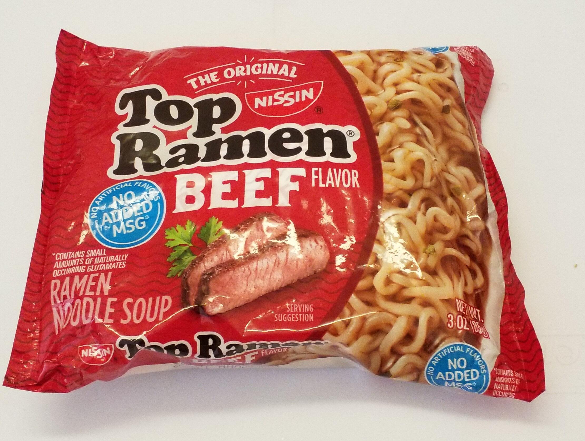 Top Ramen, Ramen Noodle Soup, Beef - Product
