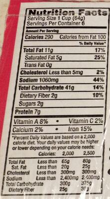 Cup noodles with shrimp - Informations nutritionnelles - en