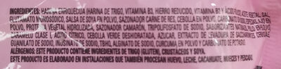 Sopa Nissin sabor a camarón tipo ramen - Ingrédients - es