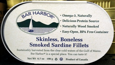 Skinless Boneless Smoked Sardine Fillets - Product