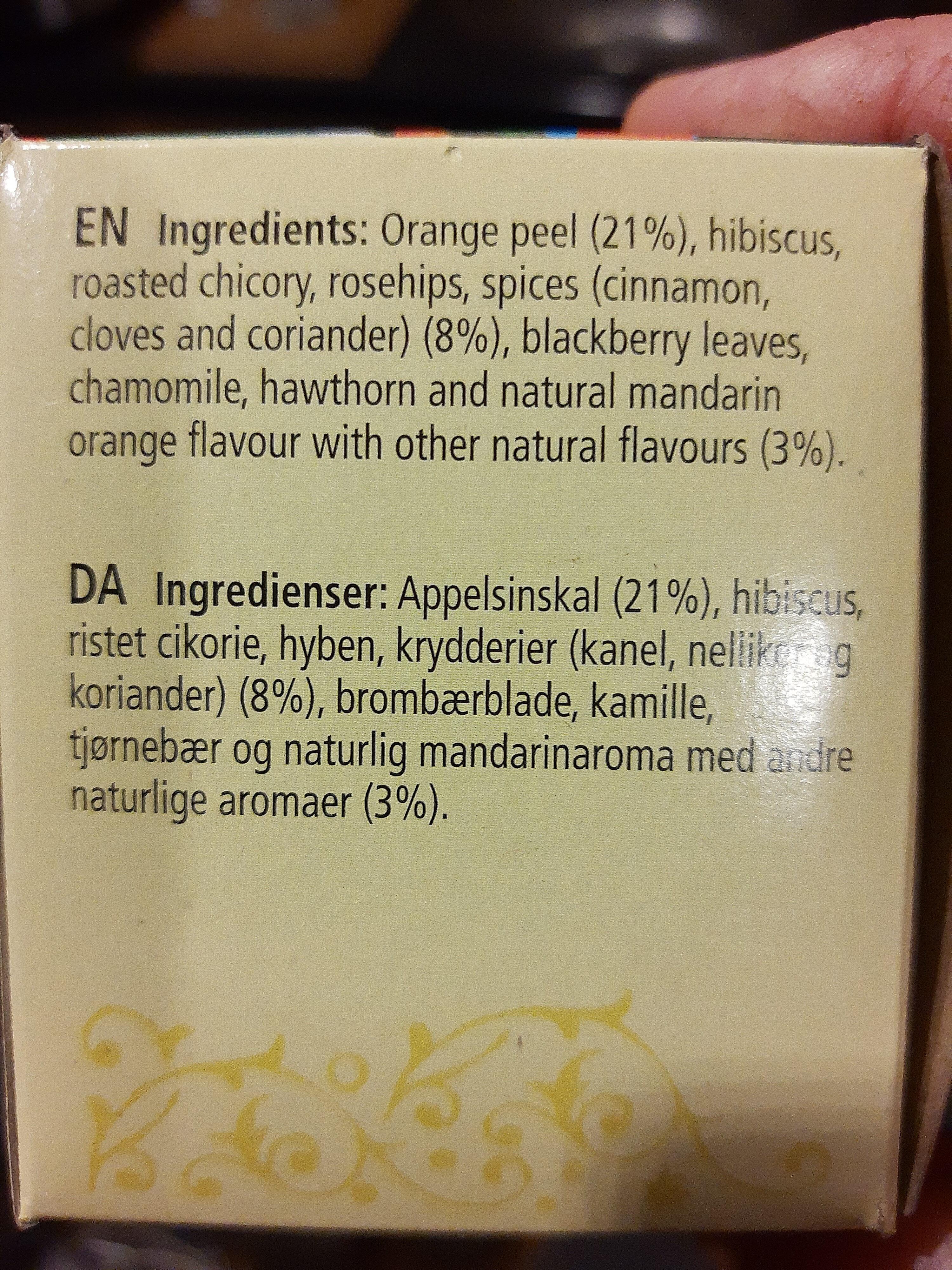 Mandarin orange spice caffeine free herbal tea bags - Ingredients - en