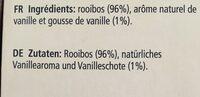 Madagascar Vanilla Redtea CSS - Ingrédients
