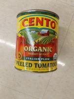 Organic whole peeled tomatoes in juice with basil leaf - Produit - en