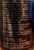 Absolutely Zero Energy Drink - Ingredients