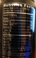 Absolutely Zero Energy Drink - Nutrition facts
