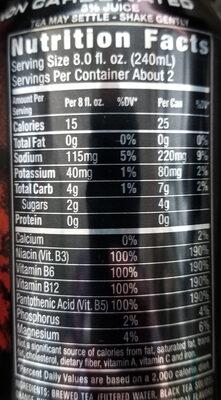 Monster Rehab Orangeade - Informations nutritionnelles