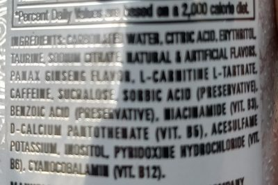 Energy drink - Ingredients - en