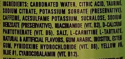 Monster ultra paradise energy drink - Ingredients