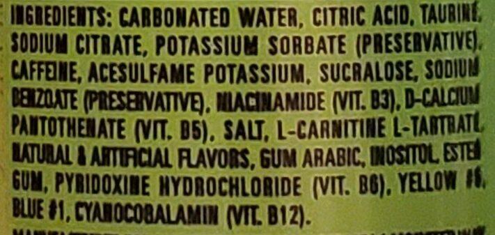 Monster ultra paradise energy drink - Ingredients - en