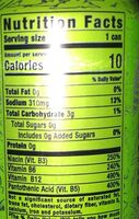 Monster ultra paradise energy drink - Nutrition facts - en