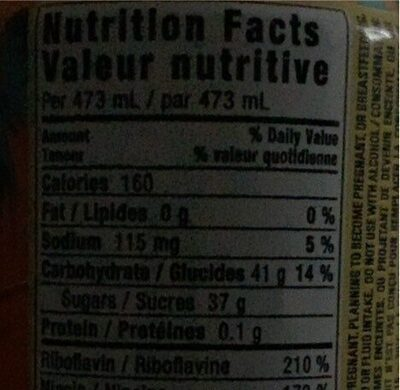 Monster - Nutrition facts - fr