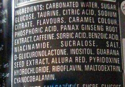 Monster Assault energy drink - Ingredients - en