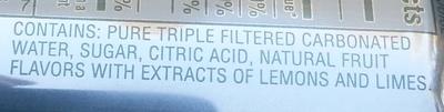 Key Lime Twist Natural Cane Soda - Ingredients - en