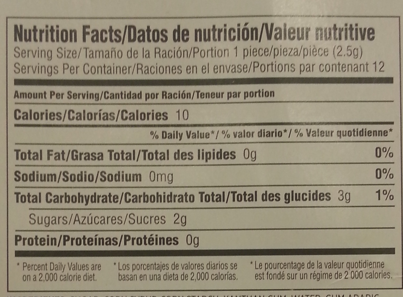 Icing Decorations - Nutrition facts - en
