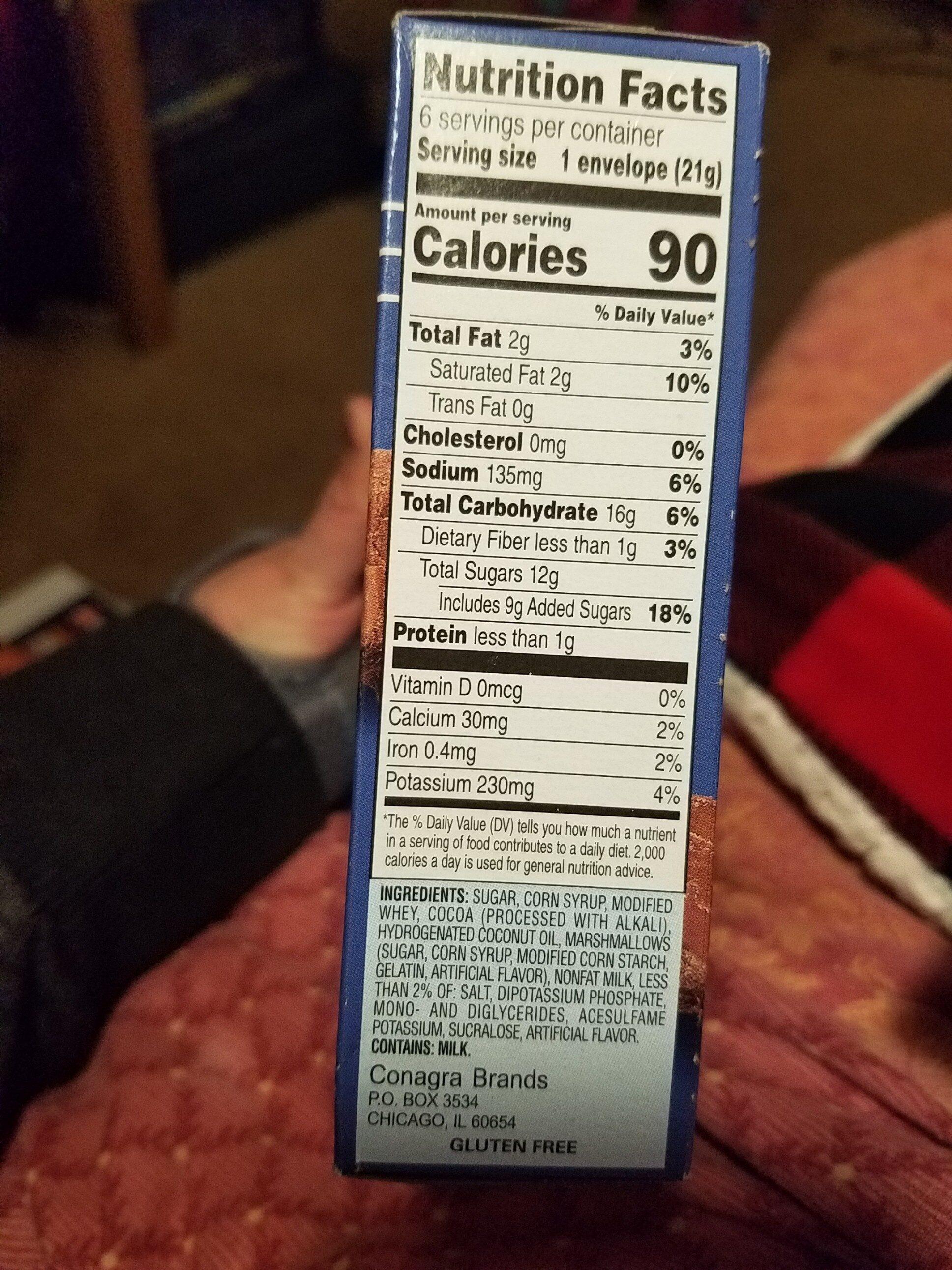 New hot cocoa marshmallows drink mixes & powders - Inhaltsstoffe - en