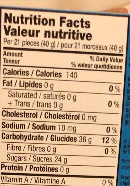 Berry Blast Candy - Nutrition facts - en