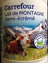 Lait de Montagne demi-écrémé - Product - fr