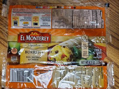 Egg, sausage & cheese burrito - Prodotto - en