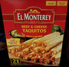 Flour Tortillas Beef & Cheese Taquitos - Product