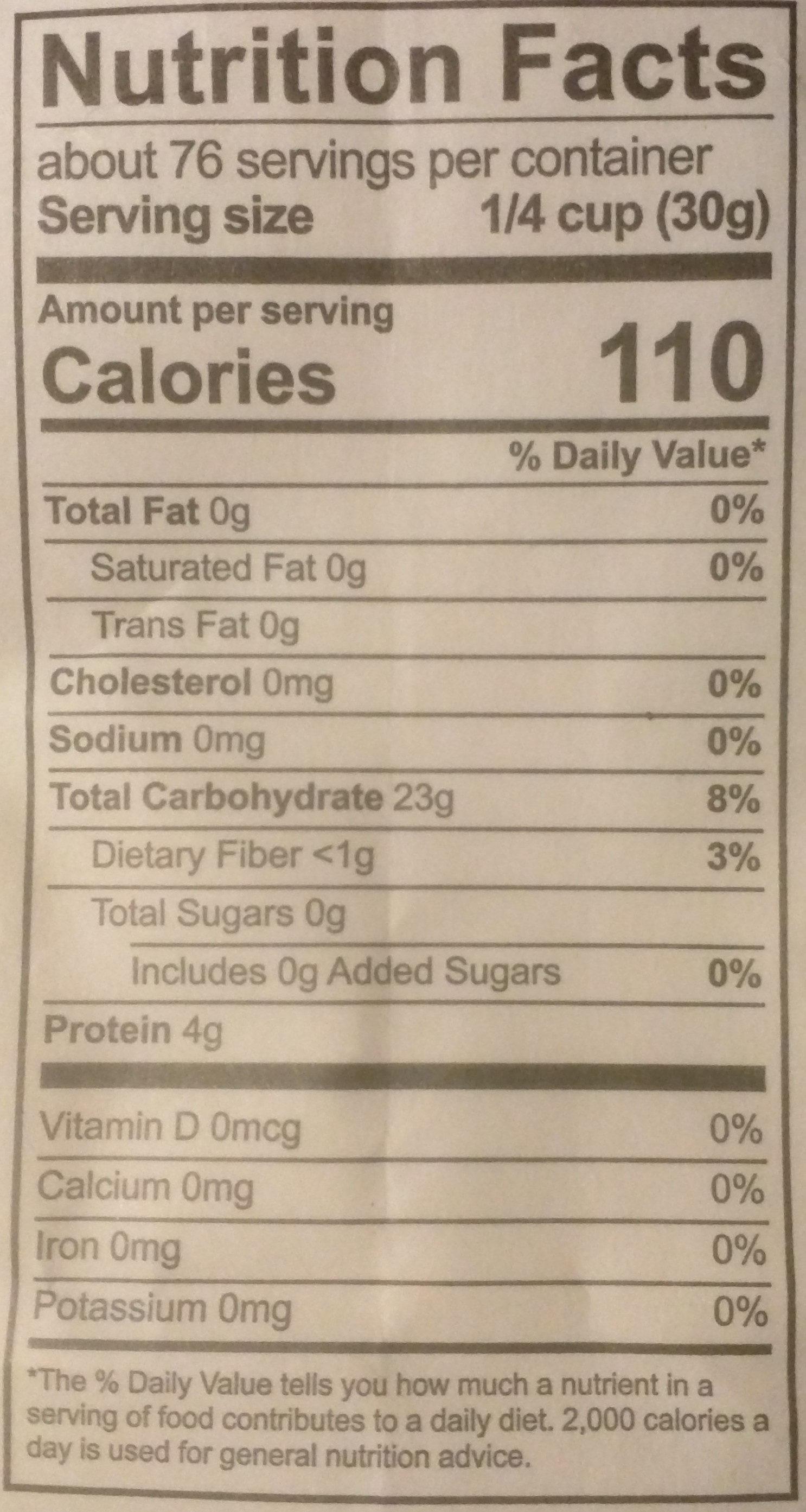 Unbleached All-Purpose Flour - Nutrition facts - en